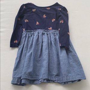 GAP Dresses - Navy & Denim Dress
